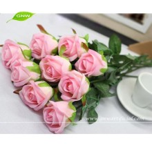 FLS04-1 GNW cheap plastic flowers for sale pink artificial wedding rose flowers for wall decorations wedding