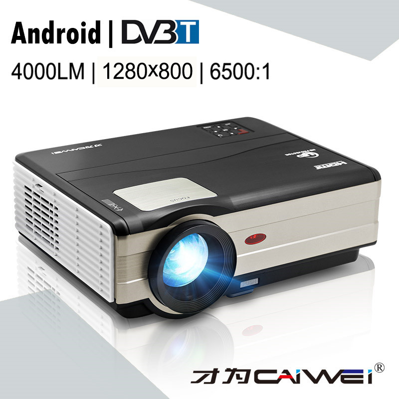 Home Theater projector portable Wifi 4000 Lumens android digital tv led projector