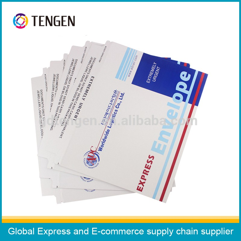 Custom made express courier paperboard envelope with OEM logo