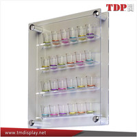 Manufacturer 24 Shot Glass Display Case for Wall Mount