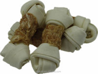 pet food Chicken Wraps Knotted Rawhide Bones