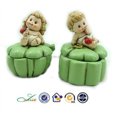 2015 new lucky clover baby trinket box baby shower promotion