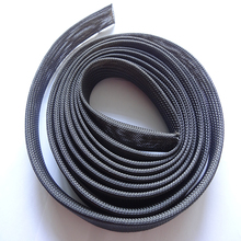 High Fire Retardant Excellent Flexibility PET Polyester Braided Mesh Cable Sleeving
