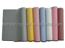 China Manufacturers thin rubber silicone sheets