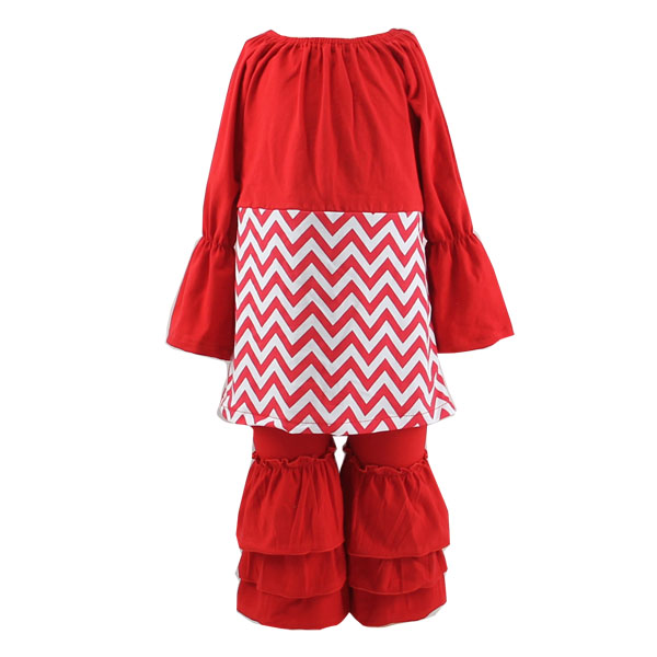 Childrens Boutique Clothing Baby Girls Valentines Outfit Floral Printed Dress and Pants Outfits