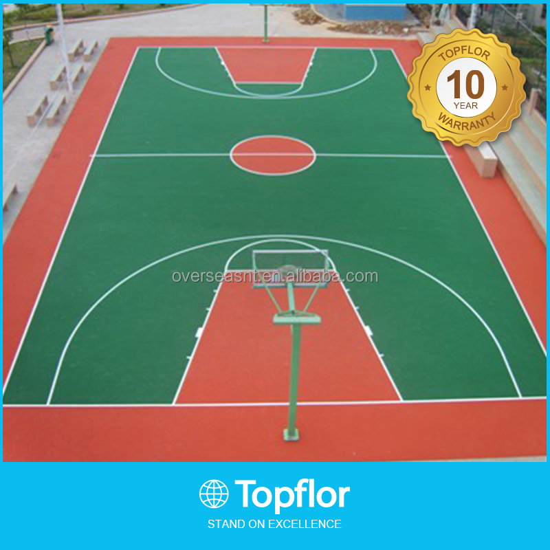 Rubber Flooring Outdoor basketball court coating