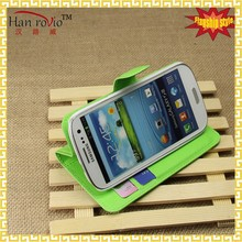 For Samsung Galaxy S3 i9300 phone case, wholesale PU leather phone case for Galaxy S3, wallet phone case for i9300