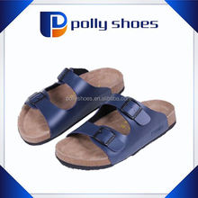 high quality cork sexi sandals for adult with pu strap