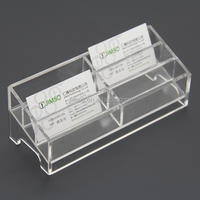 High quality 6 grids clear acrylic name card display stand, display rack