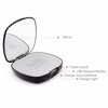 Super star makeup mirror 4000mah power charger make-up mirror emergency backup round power bank charger