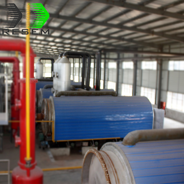 Hot sale high quality continuous waste plastic pyrolysis plant