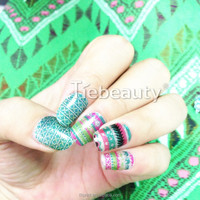 2016 tiebeauty beautiful young girl glitter nail sticker/sweet japan nail sticker