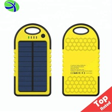 Hot Solar Phone Charger 5000Mah Waterproof, Solar Portable Phone Power Usb Charger,Mobile Solar Battery Charger For Mobile Phone
