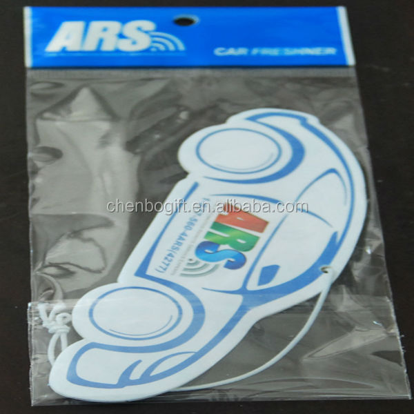 Bulk packing car shape hanging paper car air freshener