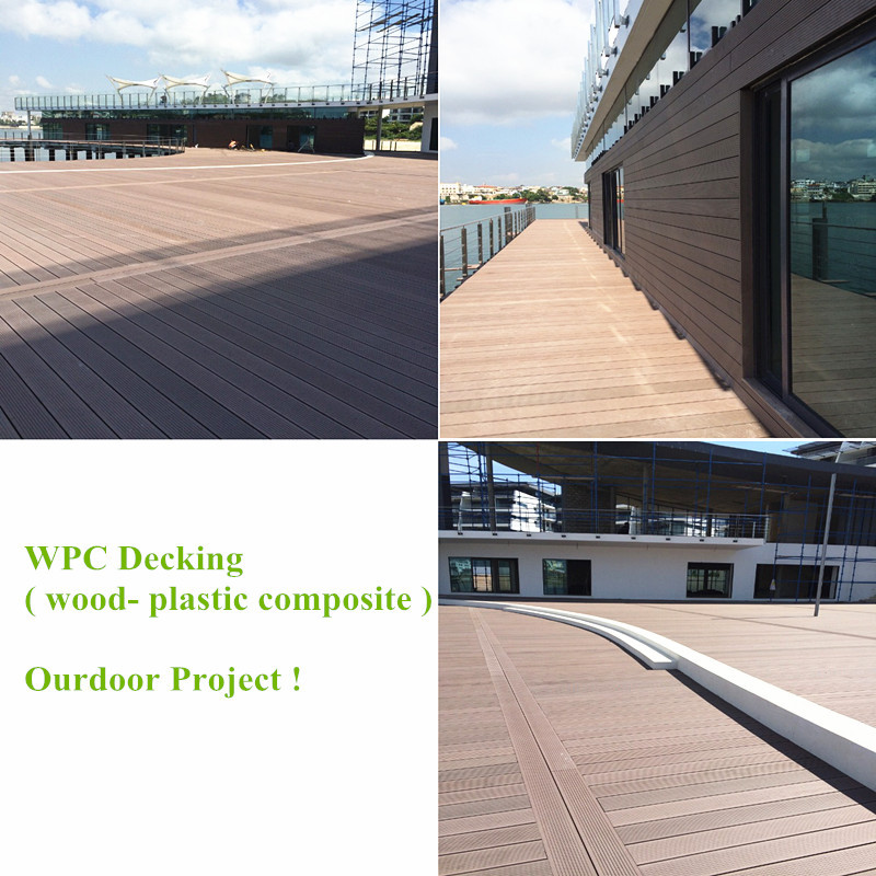 Outdoor Wood Plastic Composite WPC Decking