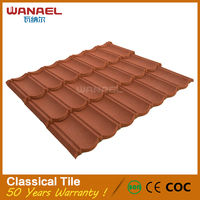 Wanael Classical First Class Quality China Famous Brand Metal Roof Costs