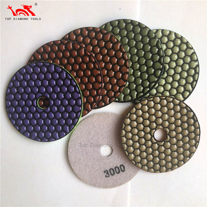 Diameter 100mm And 125mm Flexible Diamond Dry Polishing Pads For Granite Marble Quartz Stone Concrete Grinding Tools