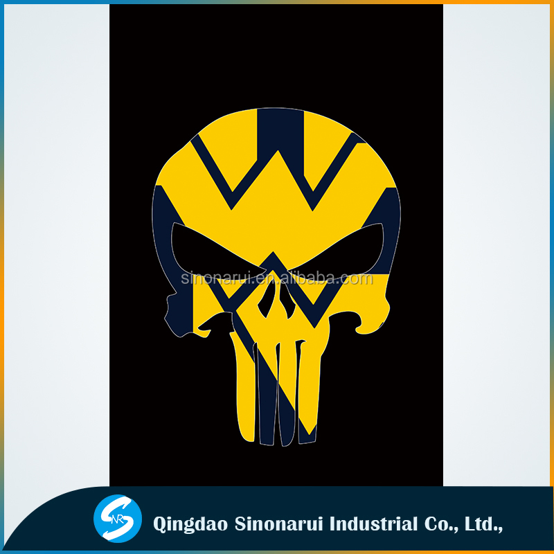 US University West Virginia Mountaineers nation skull custom flags wholesale