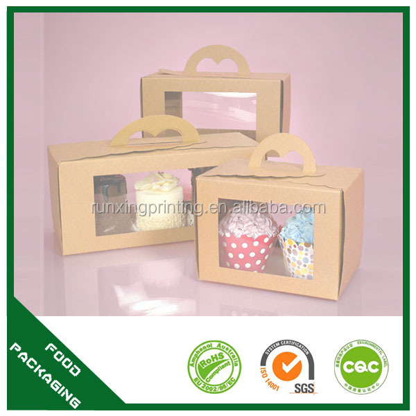 PET window,Varnishing Printing Handling and Recycled Materials,echo-friendly material and inks Feature craft cake box