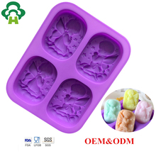 Specialized mold design customize durable angel shape 3d silicone industrial handmade soap making molds