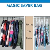 PET PE 0.07mm hanging space saver bags as seen on tv