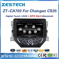 ZESTECH CD player car rear view camera headrest monitor 1080P car multimedia for changan cs35