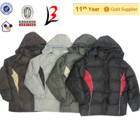 apparel overruns men padded coat china products stocks liquidation MI5-2013