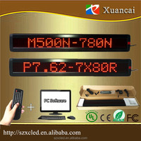 HOT! M500N-780R(P7.62-7x80Red) 65.2x9.7x3.4cm led light message bar sign with wireless remote control message display sign board