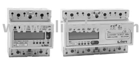 1/3 Phase DIN-rail Electronic(Digital) Double Tariff kWh Meter