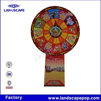 Colorful Lollipop shape corrugated pop up stand display rack for Lucky Lottery