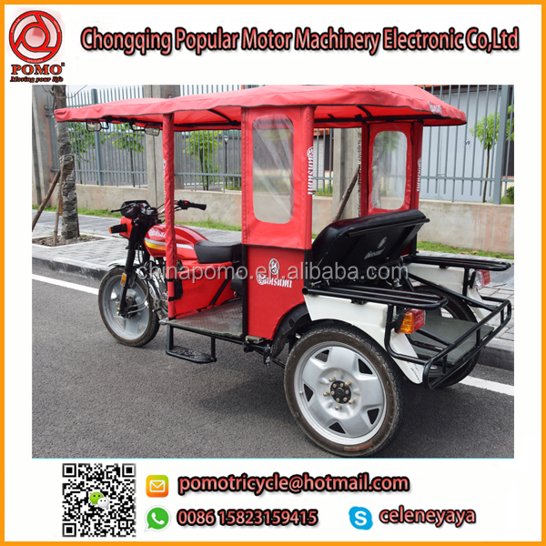 YANSUMI Passenger Three Wheel Covered Motorcycle,Motorcycle Truck 3-Wheel Tricycle,Bajaj Pulsar Accessories