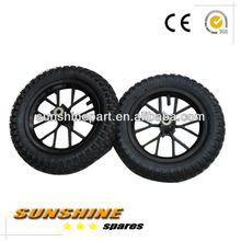 47cc 49cc BLACK FRONT + REAR MINIMOTO MINI DIRT BIKE WHEELS TYRES 12.5 x 2.75
