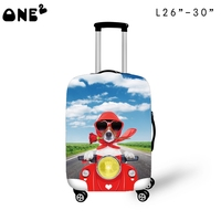 ONE2 design fancy small fresh dog luggage protective cover suitcase for teenager boys girls