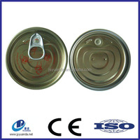 round tinplate easy open tin can lid
