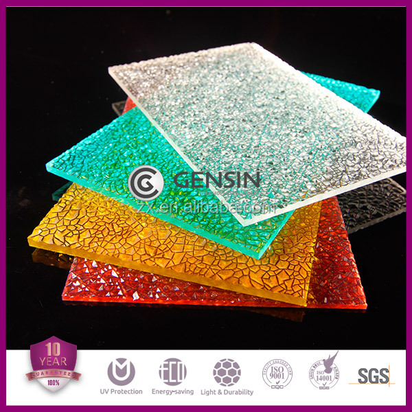 Colored Embossed Polycarbonate Sheet / PC Panel