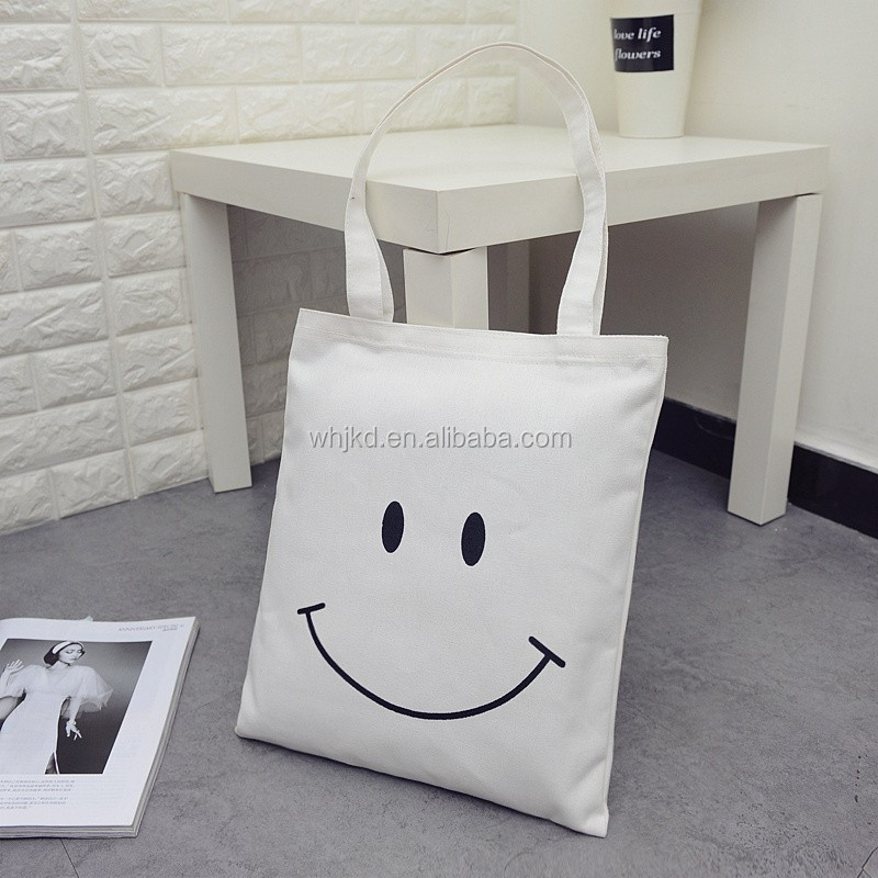 Most popular wholesale customized canvas cloth shopping bag