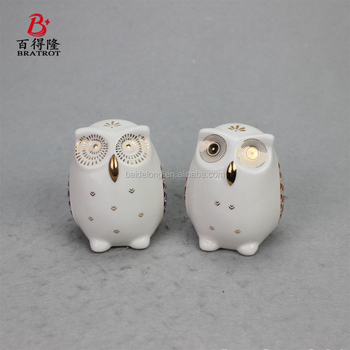 Owls Statues House Warming Gift Combined Figurine Statues Tabletop Shelf Ceramic Ornaments Home Decorative Collectible Figurine