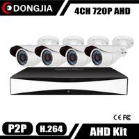 Dongjia HD CCTV Camera Set 4 Waterproof Video Surveillance 720P 960 Kit Camaras De Seguridad