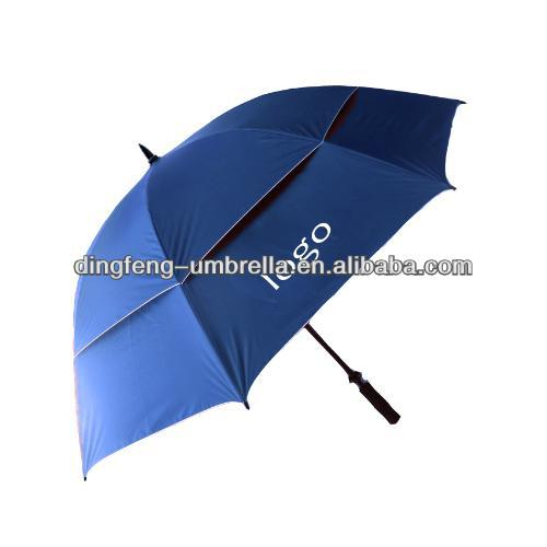 promotional double layer outdoor golf umbrella for rain