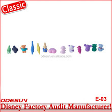 Disney Universal NBCU FAMA BSCI GSV Carrefour Factory Audit Manufacturer Promotion Logo Print Round Shaped Pencil Eraser