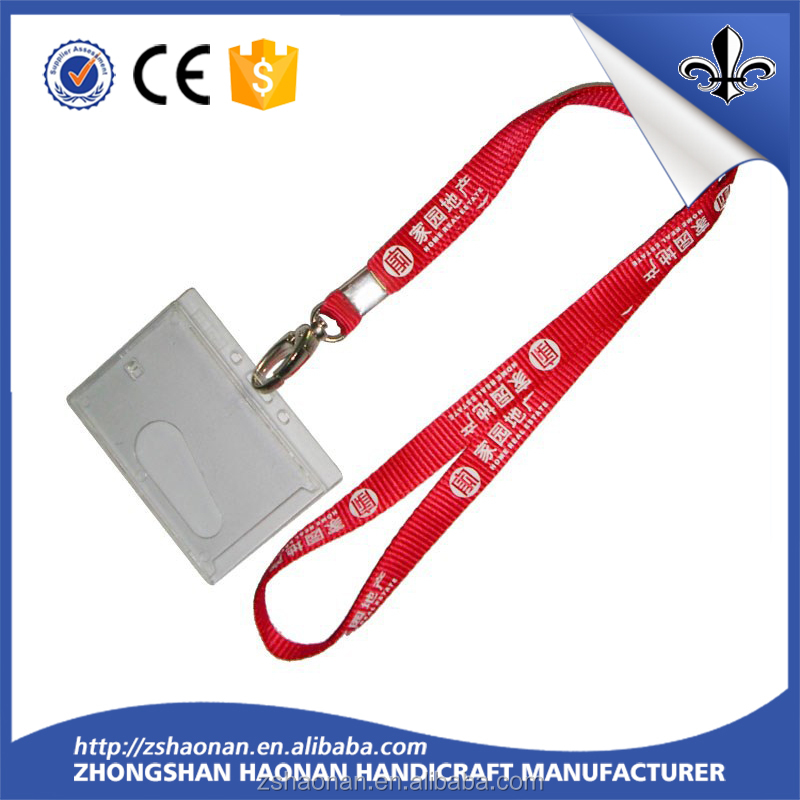 free sample design your logo hard plastic id card holder lanyard