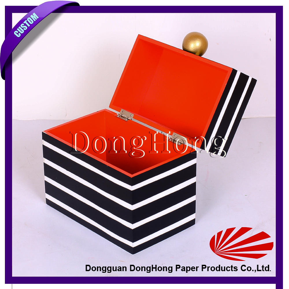 Stripes decorative storage gift packaging wooden jewellery box