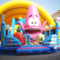 Cartoons Of Inflatable SpongeBob Bouncer inflatable castle