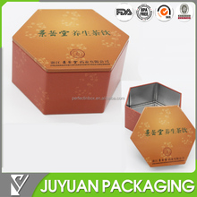 Hexagon shape Honey sweets Packaging tin box