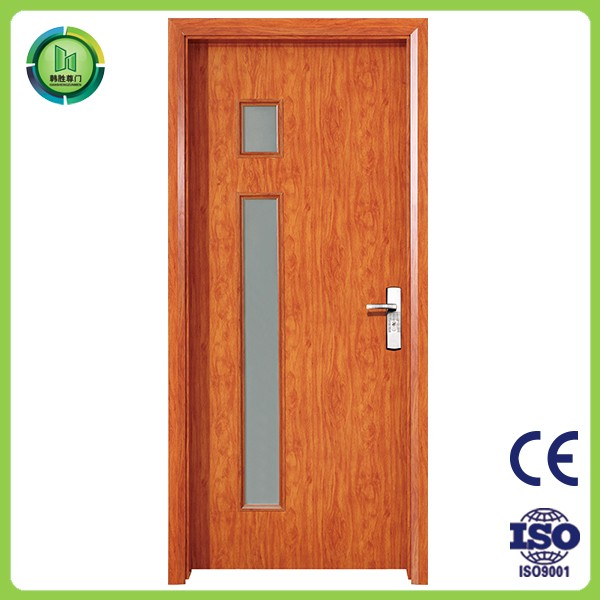 Classic style half glass french style wood interior door