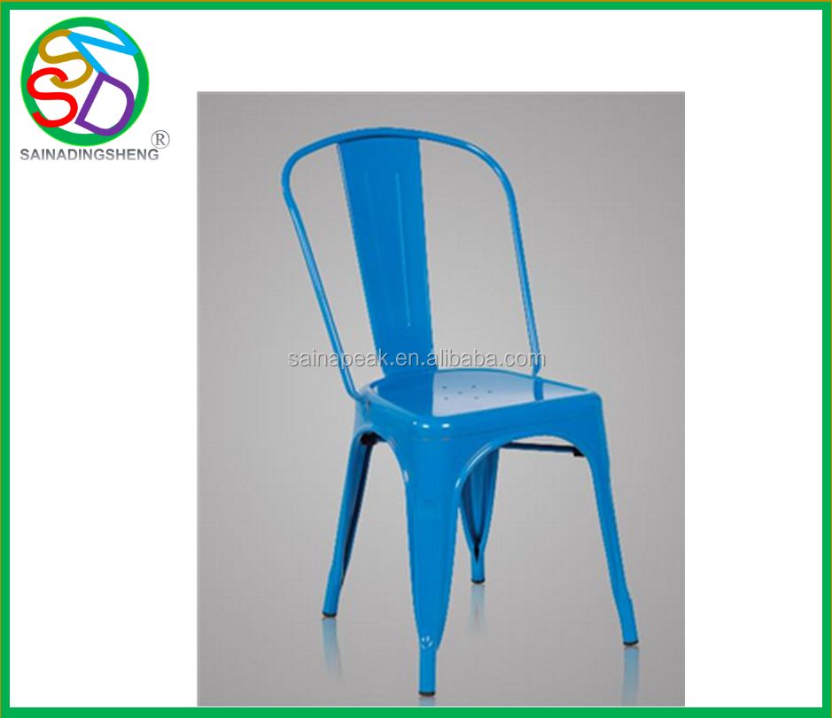 Wholesale cheap steel industrial retro cafe metal dining chair in Dining Chairs