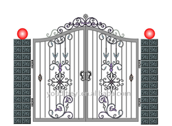 new style wrought iron folding main gate design/collapsible gate design