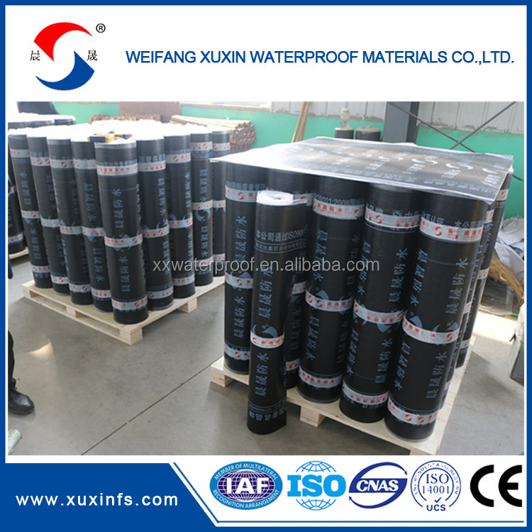 3mm aluminium finished SBS Modified bitumen waterproof membrane for building materials