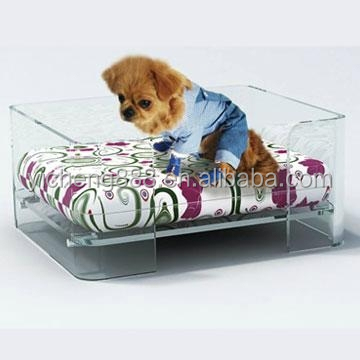 wholesale clear acrylic pet bed