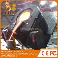 2 tons induction melting equipment of gold silver copper platinum
